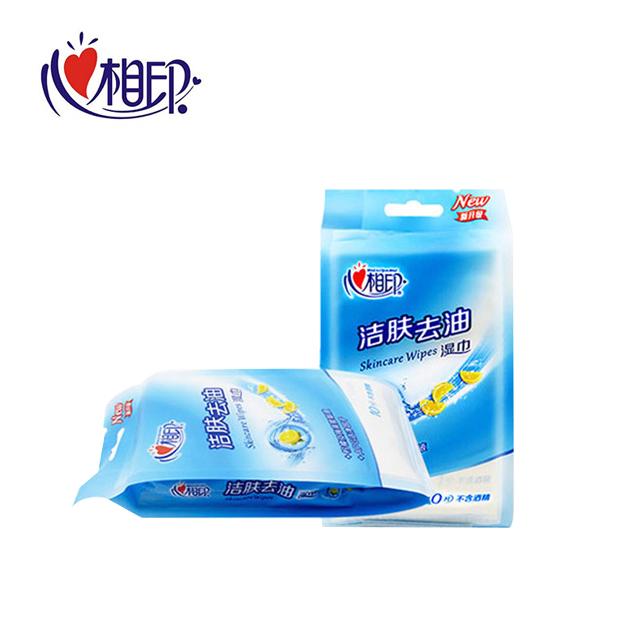 心相印 湿巾纸洁肤去油清洁湿巾6包60片