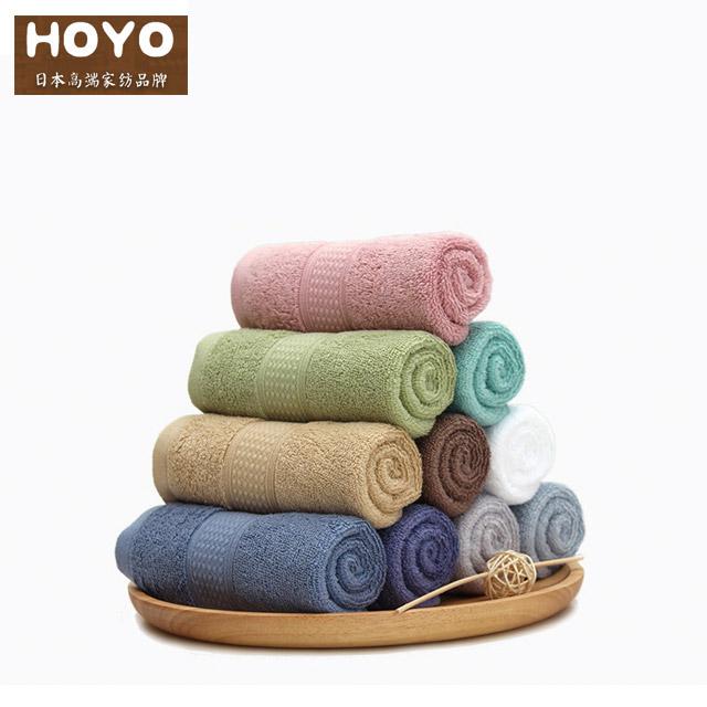 HOYO臻品长绒棉毛巾两件套盒颜色随机发