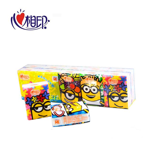 心相印 手帕纸小黄人手帕纸5条50包3层 面巾纸卫生纸