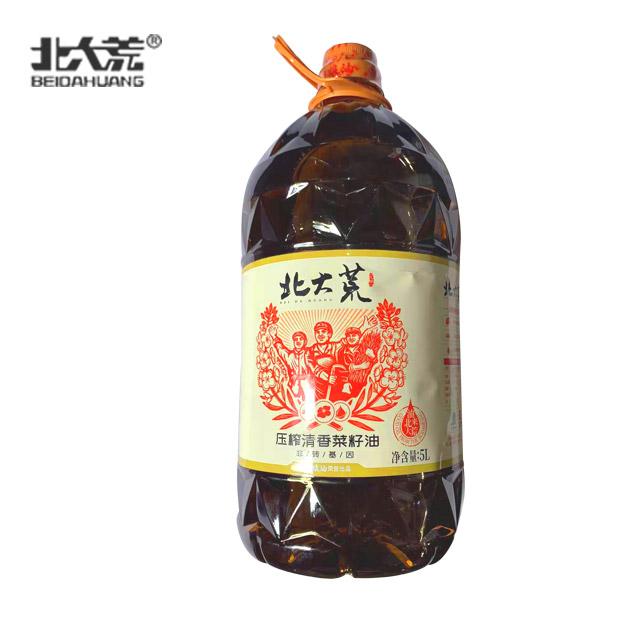 北大荒 压榨清香菜籽油5L