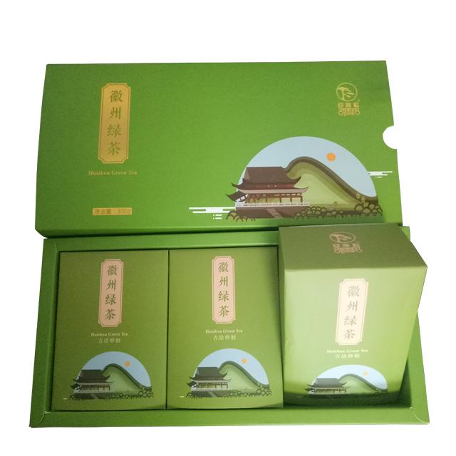 迎客松茶叶 正韵徽州绿茶盒装
