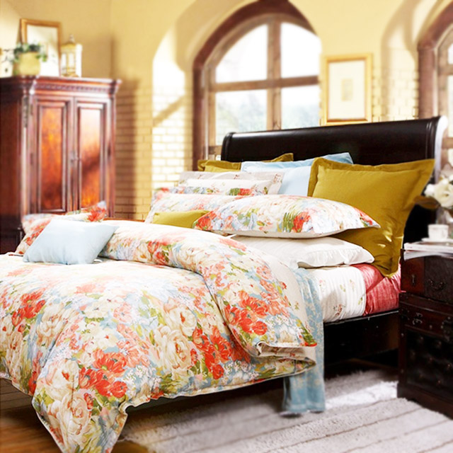 富安娜 金风玉露床单四件套全棉夏季床上用品网红款
