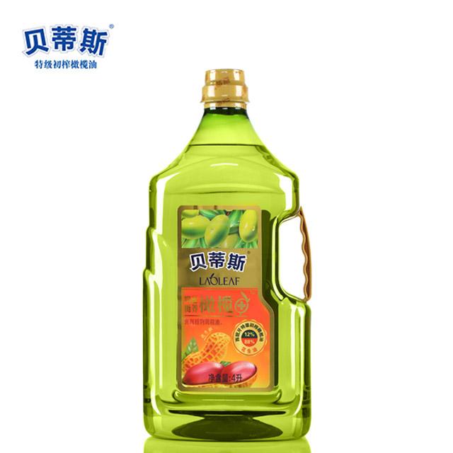 贝蒂斯 特级初榨 橄榄花生油4L