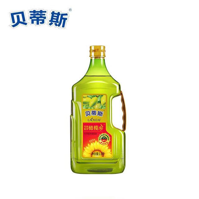 贝蒂斯 橄榄葵花植物油1.6L(赠250ml葵花籽油)