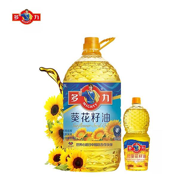 多力 葵花籽油5L+250ml 食用油 含维生素e