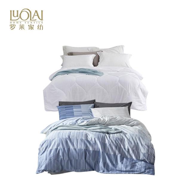 罗莱家纺(LUOLAI) 5件套大礼包恬梦暖绒纤维被+罗莱云空之境40支全棉四件套