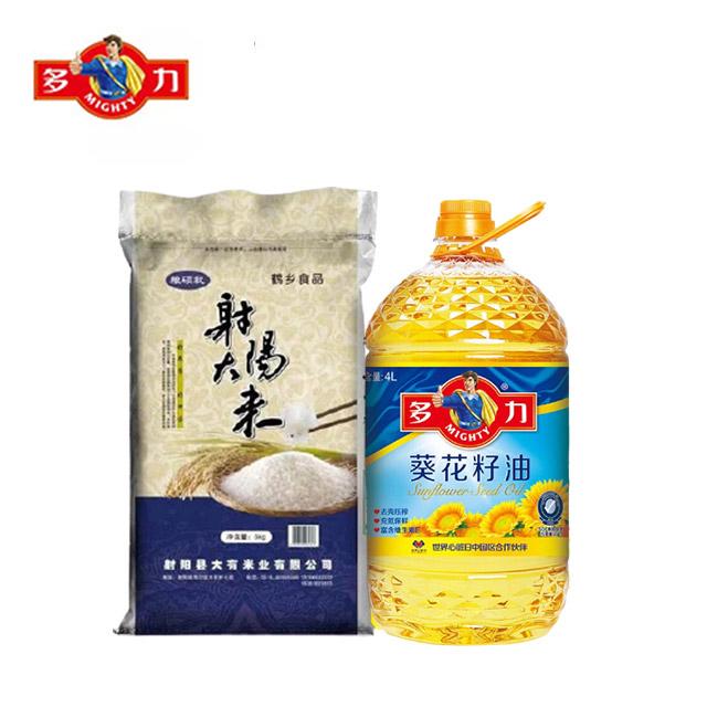 多力葵花籽油4L+5kg射阳大米