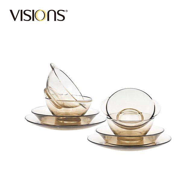 康宁餐具玻璃餐具套组(家用8件套)